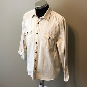 Lucky brand men's XL white button up shirt EUC